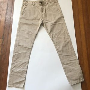 Current Elliot Tan Light Weight Mid Rise  Pants